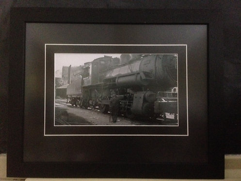 Framed Gushul Print of Train