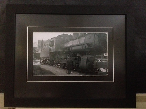 Framed Gushul Print of Train