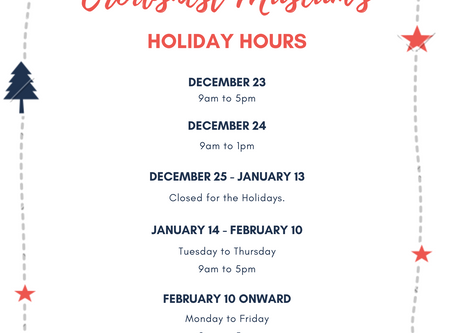 Museum Holiday Hours