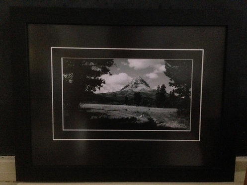 Framed Gushul Print of Crowsnest Mountain