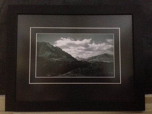 Framed Gushul photo of Crowsnest Mountain