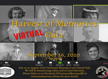 The 2020 Harvest of Memories Gala is going digital.