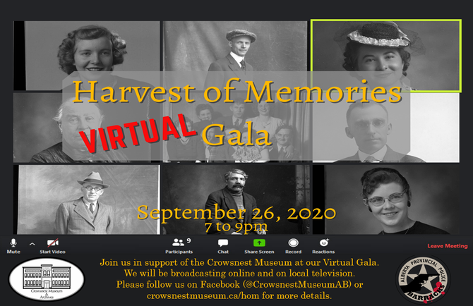 The 2020 Harvest of Memories Gala is going digital.