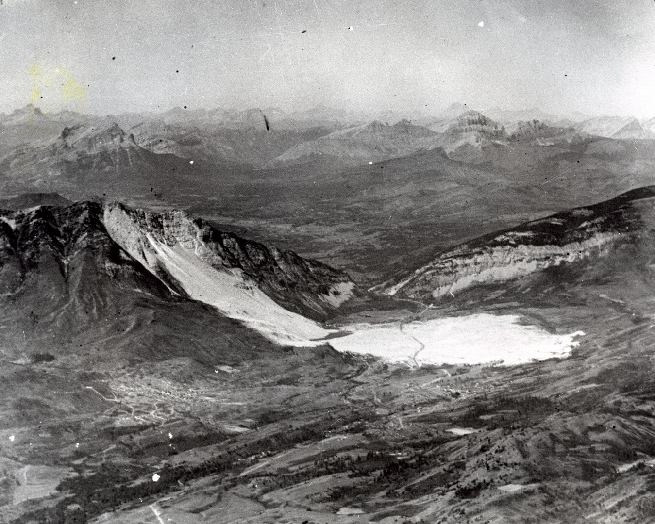 Aerial View of Frank Slide - UNKNOWN August 1922