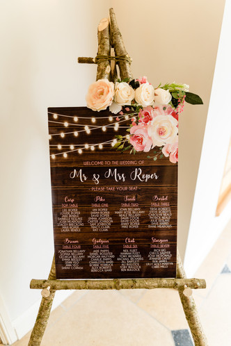 Rustic Wood Easel sign board.