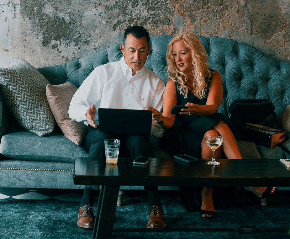 Social media managers Robert Rhoden and Sheri Sable-Campbell of Sable-Rhoden Media at work in New Orleans.