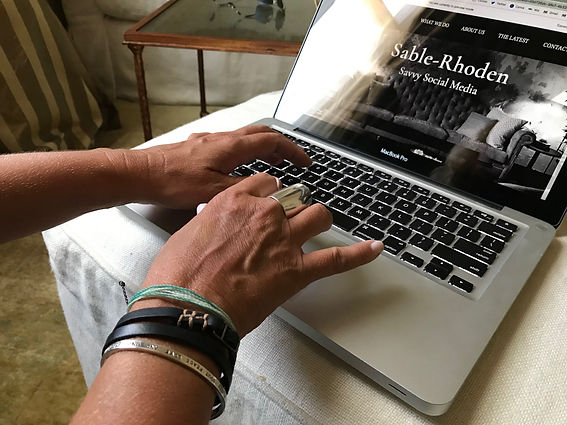 Sheri Sable-Campbell of Sable-Rhoden Media works on the firm's website in New Orleans.
