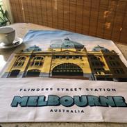 Flinders Street Station Tea Towel