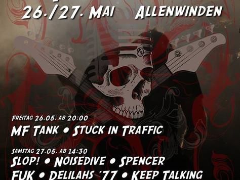Spencer spielen am Rocksack Festival in Allenwinden