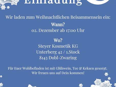 Einladung zum Weihnachtlichen Beisammensein!