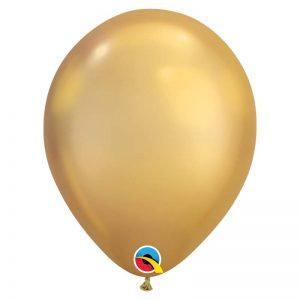 BALLON OVALE CHROME GOLD