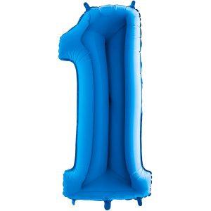CHIFFRE BLEU, XL 90 cm