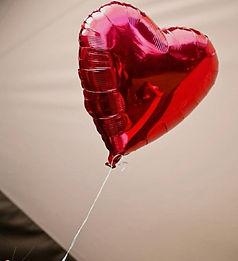ballon helium coeur rouge