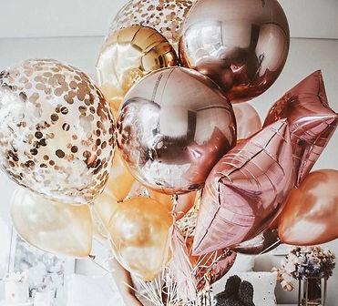 composition de ballon gonflés a l'hélium originales