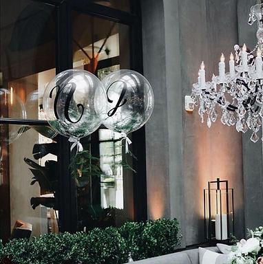 Ballons hélium mariage élégants