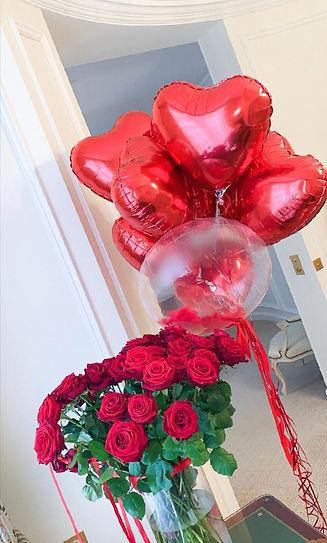 ballons helium Saint -Valentin Paris
