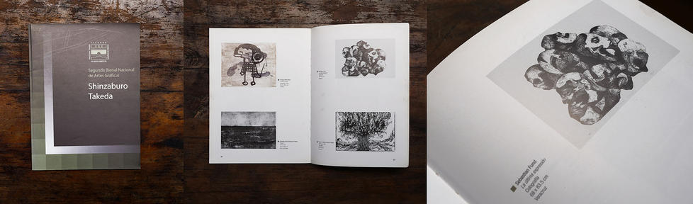 """Catálogo""""II Bienal Nacional de Artes Gráficas Shinzaburo Takeda"""". Oaxaca de Juárez. México"""