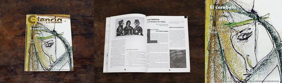 """Ilustrador de la Revista la """"Ciencia y el Hombre"""" Editorial de la Universidad Veracruzana. Xalapa. Veracruz. México, agosto"""