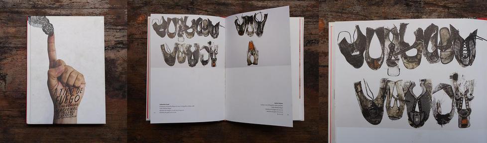 Catálogo A tiro de fuego, Exposición Colectiva de talleres de grafica Nacional, en el Museo Nacional de la estampa CDMX