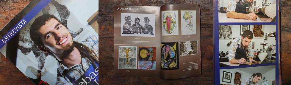 Ilustrador del dosier en la revista Xalapeñisima