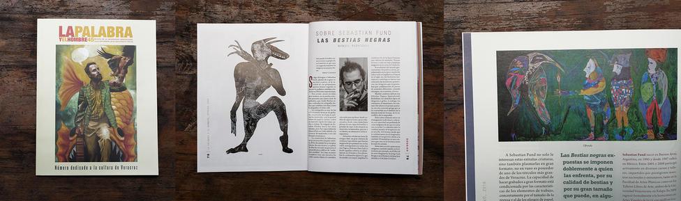 Ilustrador del dossier de la revista La Palabra y El Hombre, de la Universidad Veracruzana.