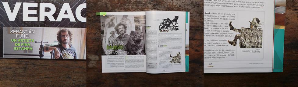 Ilustrador del dosier en la revista Líder