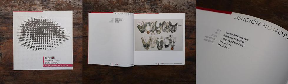 Mención Honorífica en la bienal internacional de artes gráficas José Guadalupe Posada en Aguas Calientes. México