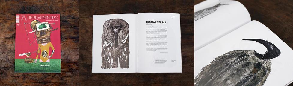 Ilustrador del dosier en la revista Tierra adentro del Instituto Nacional de Bellas Artes (INBA), Secretaría de Cultura