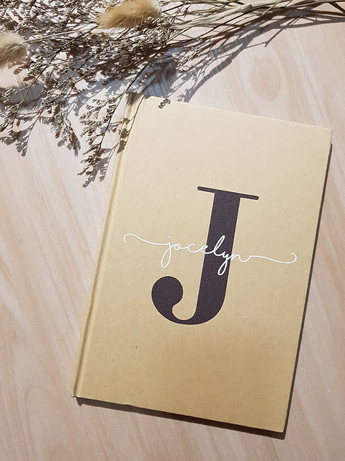 Personalised Monogram Lined Notebook