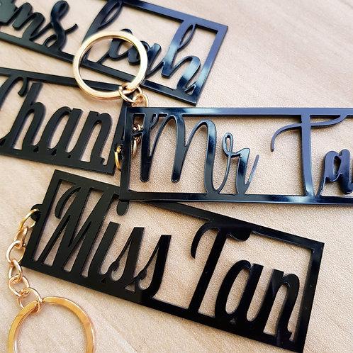 Customised Name Keychain