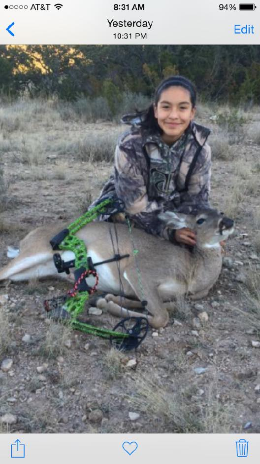 Aryn Sanchez - 35 lb bow kill