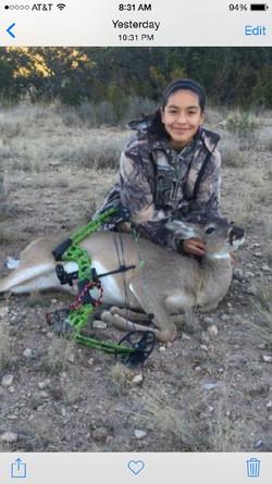 Aryn Sanchez - 35 lb bow kill