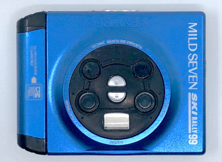 Kenwood DMC-J3L Portable MiniDisc Player Blue Mild Seven Ski Rally 99 Special Edition.