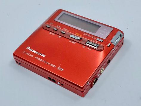 Panasonic SJ-MR240 Red MiniDisc Recorder