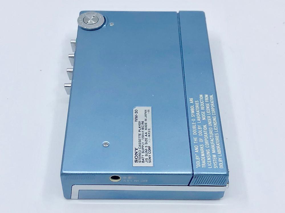 Sony Walkman WM-30 Blue Portable Cassette Player