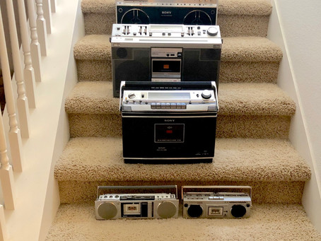 Various Boomboxes Size Comparison: National RX-2700, Sony CFS-F5, CF-580, CF-686 XYZ ...
