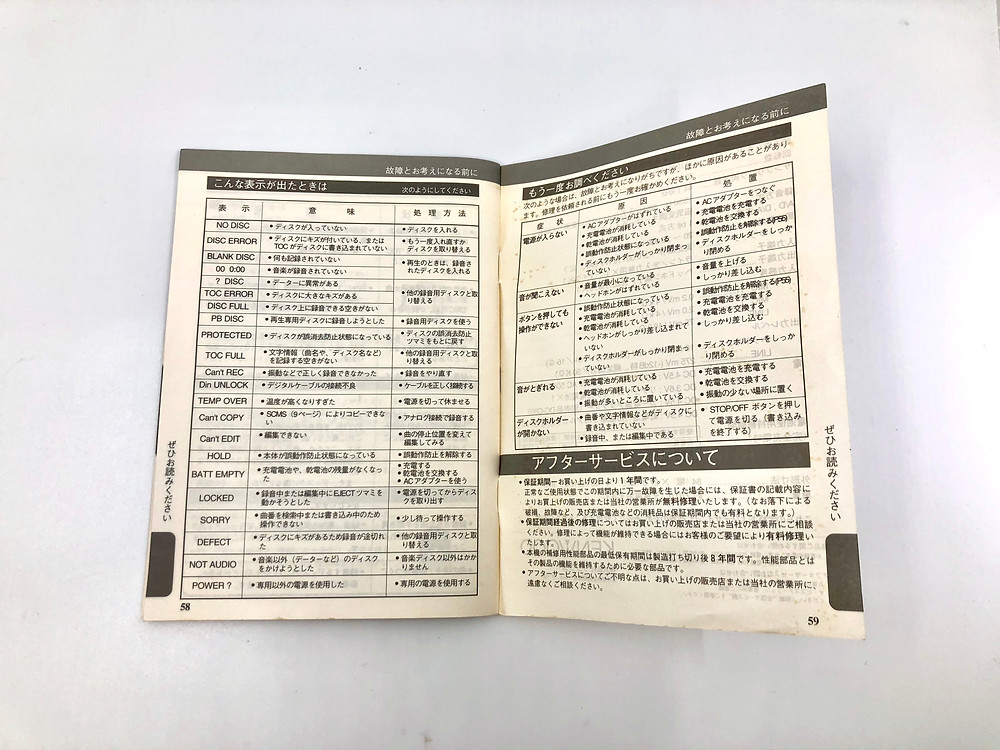 Kenwood DMC-E7RH MD Recorder