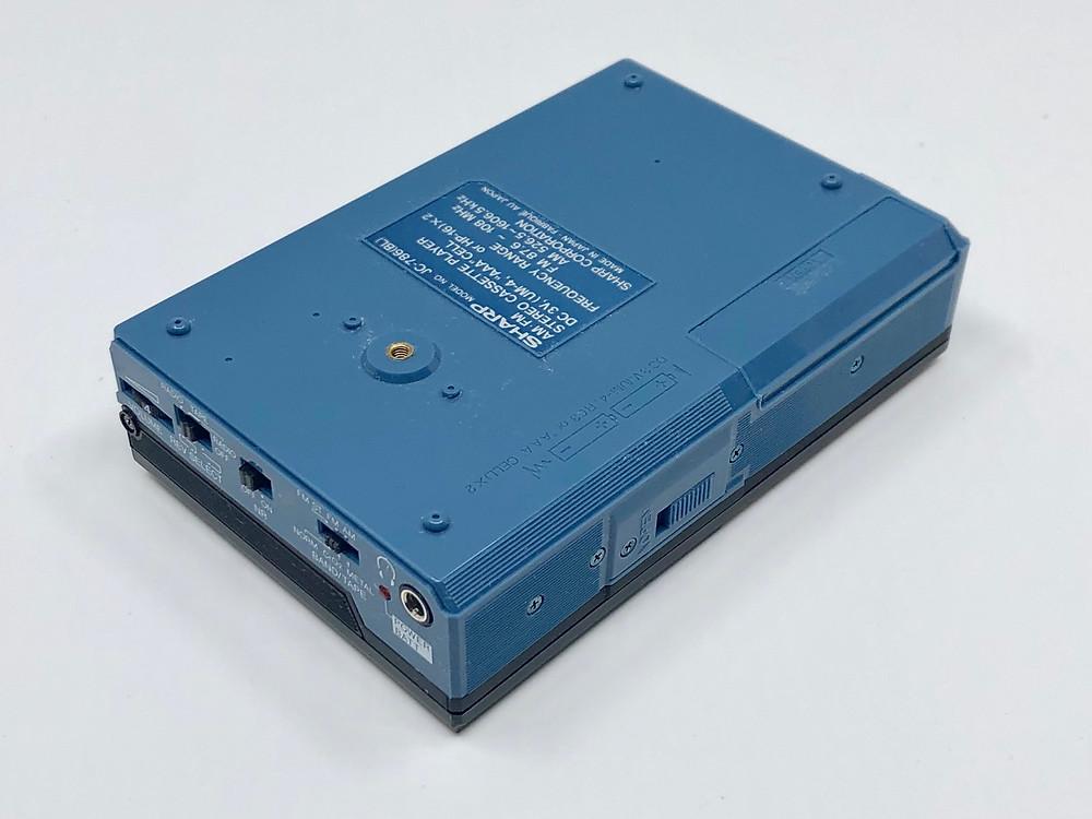 Sharp JC-786 Blue Portable Cassette Player