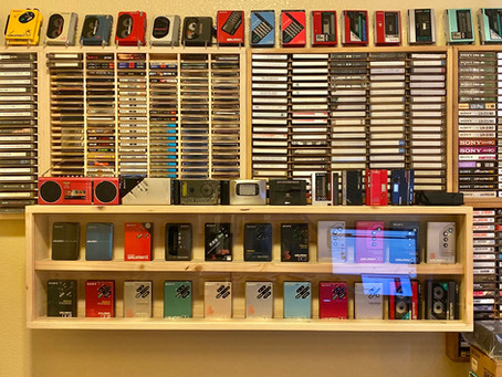 Custom Made Cassette Player Display Shelves