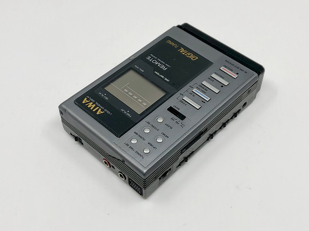 Aiwa HS-JX10 Portable Cassette Player Grey