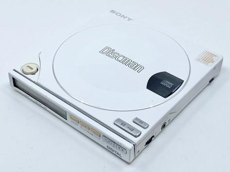 Sony Discman D-100 White Portable CD Player