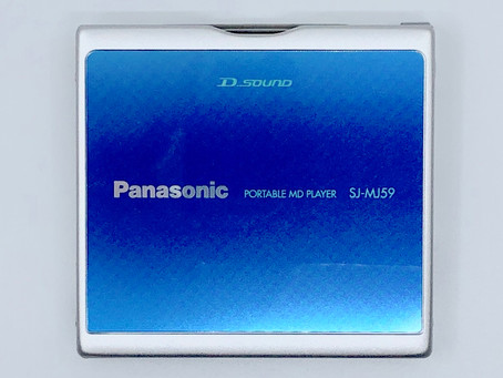 Panasonic SJ-MJ59A Portable MiniDisc Player Aqua