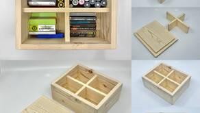Hand Made Wooden Box for Storing Batteries