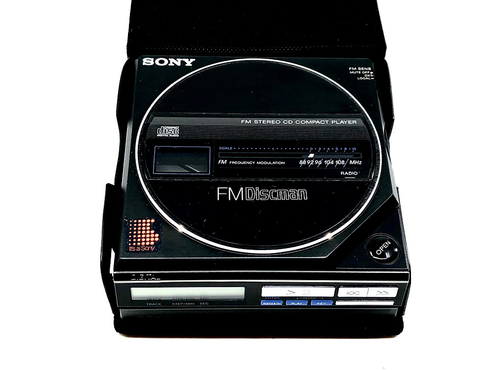 Sony Discman D-55 Portable CD Player with Stereo FM