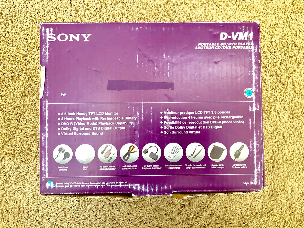 Sony D-VM1 Silver Portable DVD CD Player