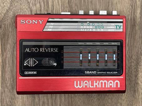 Sony Walkman WM-F60 Cassette Player Red
