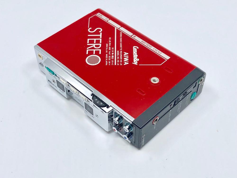 Aiwa HS-J9 Red Portable Cassette Player
