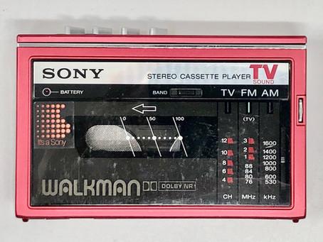 Sony Walkman WM-F30 Magenta Portable Cassette Player