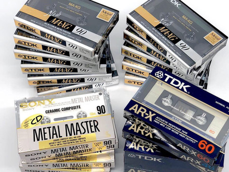 New Cassette Tape Collection TDK MA-XG, TDK SA, TDK AR-X, Sony Metal Master etc.