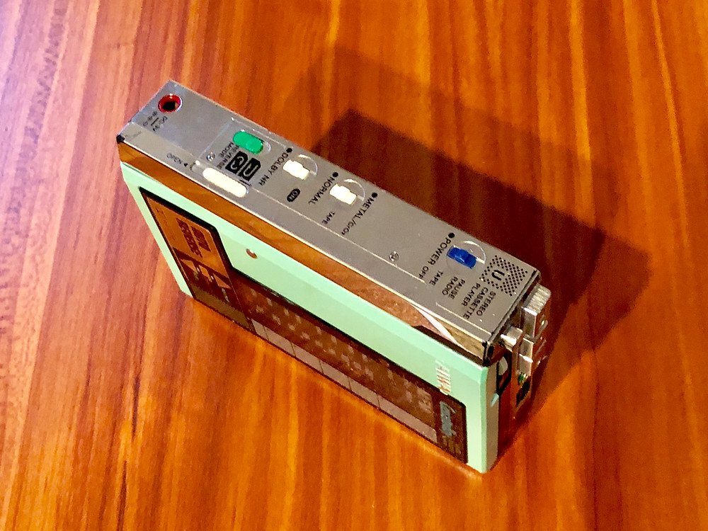 Aiwa HS-U7 Green Portable Cassette Player